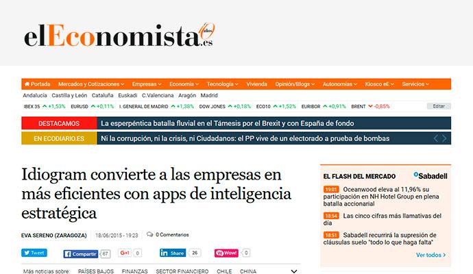 El economista: Idiogram convierte a las empresas en más eficientes con apps de inteligencia estratégica
