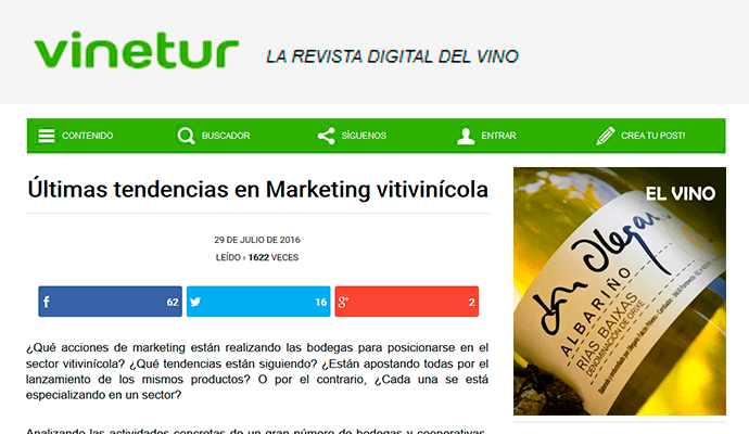 Vinetur: Últimas tendencias en Marketing Vitivinícola